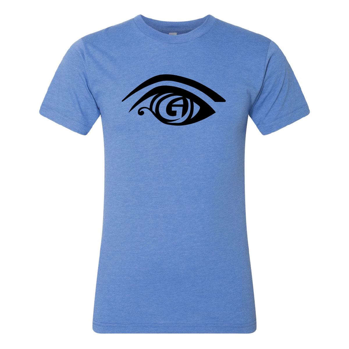 Lake Blue Crew Shirt Logo Front