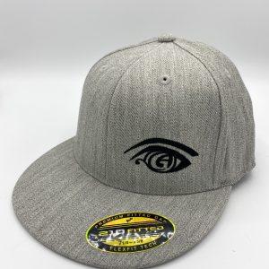 Great Awakening Brewery Craft Beer Merchandise Logo Flat Bill Hat Gray Flex Fit Hat in Westfield