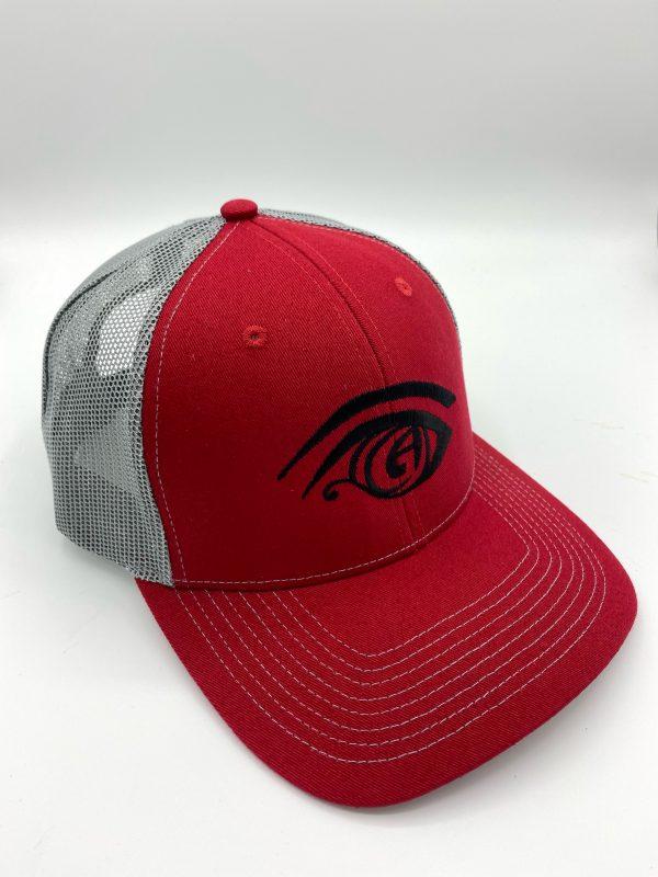 Great Awakening Brewery Craft Beer Trucker Hat Merchandise Logo Hat in Red and Grey in Westfield