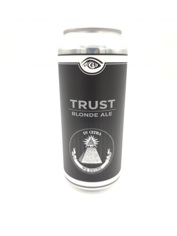 Great Awakening Brewery New Craft Beer Release Trust Blonde Ale Cans in Taproom in Westfield